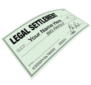 Legal settlement check