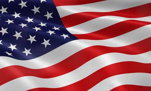 USA flag and U.S.A. citizenship